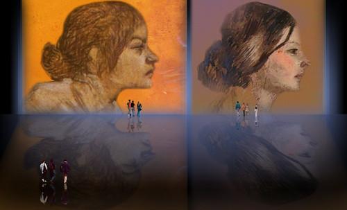 "Las Madeleines escuchando la soleada soledad, descripciones de Henri de Toulouse Lautrec (1889) y Pablo Picasso (1904). • <a style=""font-size:0.8em;"" href=""http://www.flickr.com/photos/30735181@N00/8805145829/"" target=""_blank"">View on Flickr</a>"