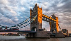 Tower Bridge (Sunkissed) (faranorclarke) Tags: bridge sunset sky london thames towerbridge nikon riverthames lightroom d90