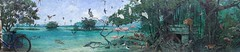 Panorama of a mural in Benito Juarez Park in Cozumel, Mexico. (Mike Macintire) Tags: panorama wall painting mexico concrete mural caribbean cozumel