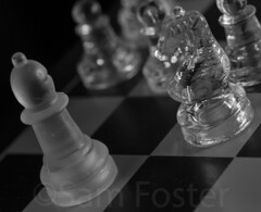 _MG_8310 (Sam Foster) Tags: bw game macro glass pieces chess clear knight translucent bishop matte pawn chessset macrophotography macromondays ruylopez monochromeshiny