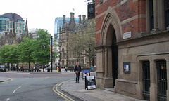 Memorial Hall corner (misterworthington) Tags: brick architecture manchester gothic victorian lancashire albertsquare worthington thomasworthington deanrowchapel claudeworthington