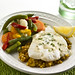 Orange Roughy, Israeli Cous Cous, Mediterranean Veggies