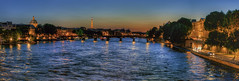 Seine by night (MzF.) Tags: panorama paris tower seine tour pano eiffel hdr