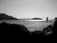 Crique - Jijel. (Badis Maiza) Tags: sea bw algeria rocks crique jijel