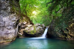 Spring rill flow. (Igor Goncharenko) Tags: wood trip travel light wild summer wallpaper sunlight mountain plant motion tree green fall tourism nature water beautiful beauty rain rock stone forest river landscape flow waterfall leaf moss spring high scenery stream day view natural outdoor background peaceful tourist canyon fresh clean jungle tropical environment flowing splash cascade freshness