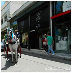 Wagon in the city (Magic Snapshots) Tags: street old wagon athens greece times stores waggoner kefalari kifisia