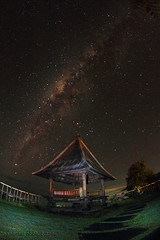 NIGHT WITH THE STARS (ManButur PHOTOGRAPHY) Tags: longexposure travel light sky stars landscape photography scenery exposure explorer fisheye tokina explore 7d milkyway singaraja manbutur manbuturphotography