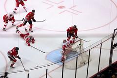 Goal: Patrick Sharp (the_mel) Tags: chicago hockey nhl blackhawks playoffs unitedcenter redwings detroitredwings semifinals chicagoblackhawks jimmyhoward marianhossa stanleycupplayoffs westernconference michalhandzus patricksharp