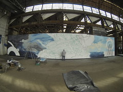 Partena_Hdp (BNZR!) Tags: painting ships grand battle canvas installation format making xl toile fresque ralisation partena2gopro