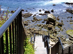 Laguna Beach 049 (mfnure31) Tags: rail coastline pacificocean lagunabeach california stairs rockformation