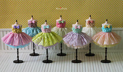 Anniedollz Blythe outfits cute bow lace skirt is coming :)