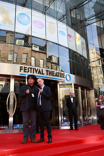 Ewen Bremner arriving at the European premiere of Breathe In at Festival Theatre