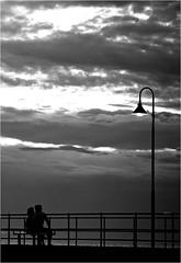 Storm Clouds (cisco image ) Tags: light bw storm clouds pier nuvole australia soul adelaide glenelg bianconero molo luce tempesta bienne luned presenze soulsound