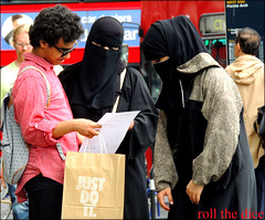 `873 (roll the dice) Tags: uk girls people urban sexy london art classic westminster weather fashion mystery dark advertising lost scary funny veiled mask map candid islam hijab strangers streetphotography sunny nike creepy arabic clothes hidden unknown muslims mad niqab w1 westend allah marblearch burqa unaware arabs burka chador
