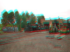 Chama, NM in 3d (CaptDanger) Tags: travel usa newmexico southwest america train canon photography photo 3d picture trains anaglyph tourist steam engines nm chama redblue traincars steamtrains trainhouse americansouthwest 3dimensional southwesternus oldtrains 3dimages locamotives chamanm anaglyph3d workingsteamengines trainsin3d