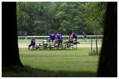 Park Bleachers (Matt0513) Tags: park field pine pie baseball north player lone bleacher traynor