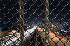 Blurred Lines (DavidChege) Tags: california city longexposure bridge light sky lines architecture canon fence buildings nightshot traffic sandiego cage sd slowshutter lightstreaks canon7d