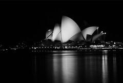 Sydney Opera House (Mitch Nicholls) Tags: blackandwhite night sydney sydneyharbour sydneyoperahouse mitchnichollsphotography