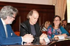 "Prof. Diego De Leo, prof. Dragan Marušič in Vita Poštuvan • <a style=""font-size:0.8em;"" href=""http://www.flickr.com/photos/102235479@N03/9820344035/"" target=""_blank"">View on Flickr</a>"