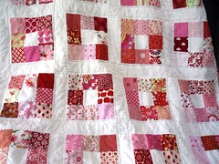 Cherry Fizz Quilt (Local Honey Crafts) Tags: pink red quilt quilting patchwork 9patch cheryfizz
