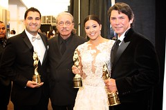 The cast of Filly Brown,  Lou Diamond Phillips, Edward James Olmos, Gina Rodriguez