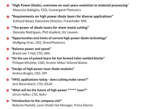 EPIC High Power Diode Lasers May 2015 (Speakers)