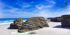 Playa de las Catedrales (Josué Quintana Martín) Tags: blue sun sol beach azul landscape mar playa paisaje galicia cielo aire libre roca playadelascatedrales beachofthecathedrals