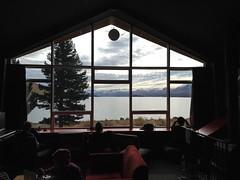 Vue de notre auberge - Lac Tekapo