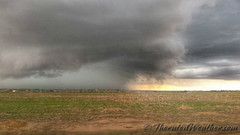 May 1, 2015 - Large storm cell moves through Adams County. (ThorntonWeather.com)