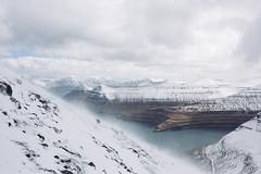 Slttaratindur (dataichi) Tags: travel white snow tourism nature landscape wind outdoor windy atlantic destination fjord faroeislands fjords faroe beautifulearth lesfro