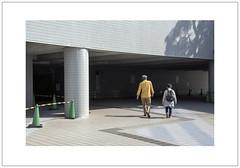 Entering (Pictures from the Ghost Garden) Tags: street light urban color colour japan underpass subway landscape concrete nikon shadows hiroshima pedestrians roadsigns dslr cones urbanlandscape 18105mm d7100