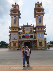 Team 2 voor de Cao Dai Temple (MTTAdventures) Tags: architecture temple cao dai team2