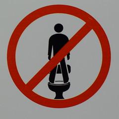 No standing anytime (la Ezwa) Tags: sign australia toilet toilette wc australie pictogramme  2013 ezwa