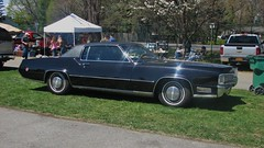 A 1970 CADILLAC ELDORADO IN MAY 2015 (richie 59) Tags: people usa ny newyork cars car america walking outside fairgrounds us spring whitewalls gm shiny unitedstates weekend crowd saturday cadillac eldorado vehicles chrome trucks newyorkstate autos oldcar sideview coupe rhinebeck automobiles carshow fwd collectibles nys nystate dutchesscounty generalmotors luxurycar hudsonvalley blackcar whitewalltires 2door americancar 2015 motorvehicles rhinebeckny venders twodoor vinyltop uscar midhudsonvalley dutchesscountyny frontwheeldrive cadillaceldorado midhudson oldcadillac 1970cadillac gmcar 2010s richie59 1970cadillaceldorado rhinebeckcarshow 1970eldorado townofrhinebeck townofrhinebeckny may2015 may22015 cadilaccoupe