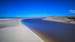 No. 1005 Uggerby estuary (H-L-Andersen) Tags: longexposure blue sea sky beach water river denmark  le lee manfrotto pl 6d landoflight leefilters canoneos6d bigstopper hlandersen uggerby uggerbyriver uggerbystrand