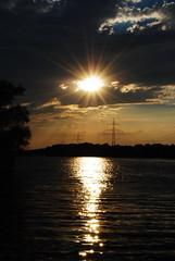 DSC_9872 (Becci12.07) Tags: leitung sonnenstrahlen lohheidesee see duisburg baerl