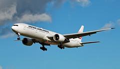 JA743J - Boeing 777-346ER - LHR (Sen Noel O'Connell) Tags: japanairlines jal ja743j boeing 777 777346er heathrowairport lhr hnd 27l jl43 jal43