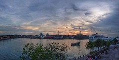 Watching the sun goes down (Kester Chan) Tags: sunset water waterfront cityscapes hdr dusk sky clouds