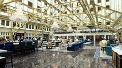 The Lobby of the Trump International Hotel in Washington, D.C. (lhboudreau) Tags: washingtondc washington dc oldpostofficebuilding oldpostoffice trump donaldtrump thedonald trumpinternationalhotel 2016 pennsylvaniaavenue lobby bltprime steakhouse upscale indoor rugs rug trumphotel hotel