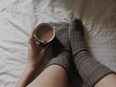 Love Autumn  (Bmbi) Tags: autumn winter cold madrid espaa coffee caf interior house home bed invierno otoo calcetines girl happiness