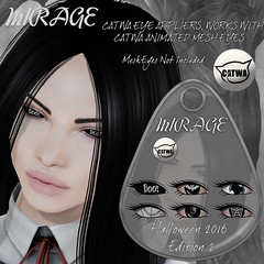 MIRAGE-CATWA Halloween 2016 Edition_2 (MirageSL) Tags: second life sl catwa mesh eyes head mirage appliers hud