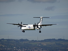 Flybe De Havilland Dash 8 Q400, G-JECH, Belfast City Airport August 2016 (nathanlawrence785) Tags: belfast city airport northern ireland ni discover flybe british airways aer lingus bhd egad ikea eicva n765m geupu gjech gjecj runway bombardier de havilland airbus israel aircraft industries gulfstream g200 a319 a320 q400 dash 8 plane