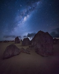 One more shot from the Pinnacles taken earlier this year. (garethcoggan) Tags: instagramapp square squareformat iphoneography uploaded:by=instagram milkyway sony canon ar a7r long exposure australia stars rocks desert galaxy