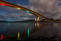 Skye Bridge by Moonlight (deemacphotos) Tags: night nightphotography skye skyelochalsh skyebridge isleofskye kyleakin kyleoflochalsh highlands hebrides landscape seascape colour color canon canon5dmarkii canon1740mm britain uk