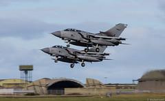 RAF Panavia Tornado GR4s ZD711/079 and ZD713/081; XV (R) Squadron, RAF Lossiemouth, Moray (Michael Leek Photography) Tags: aircraft aeroplane aeronautical flight moray scottishaviation panaviatornado panavia michaelleek michaelleekphotography militaryaviation militaryaircraft militaryjet nato northeastscotland scotland fastjet iconicaircraft iconic raf raflossiemouth xvsquadron operationalconversionunit ocu gr4 tornadogr4