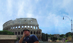 Dreamer... (clevernails) Tags: italy rome dreamer colosseum monument famous man turist holiday city people visitor memory panorama