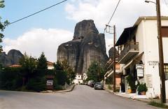untitled (Alla Romanova) Tags: film pentax k1000 greece fujifilm200 landscape outdoor stown meteora oldmountain