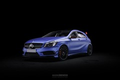 Mercedes A45 AMG Edition 1 (Vroompix) Tags: mercedes amg 45 a class klasse matte blue mettallic night studio light painting tenerife canarias canary islands