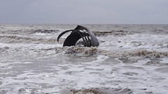 A bracing breeze on the beach (davemac43) Tags: water marys shell cleveleys lancashire sea wet groyne rocks waves stones