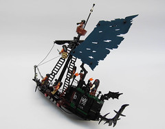 LEGO-Darkevil-05 (Sweeney Todd, the Lego) Tags: lego pirate pirateship zombie zombies ship boat pirates dead darkevil jack sparrow spooky